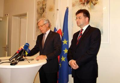 Following the meeting with Minister Lajčák at The Hague, the High Commissioner Vollebaek