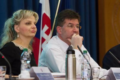 Minister Lajčák and Director General SEPK Barbara Illková.