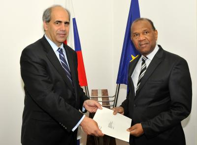 State Secretary Peter Burian and Ambassador of Guinea Ibrahim Sory Sow