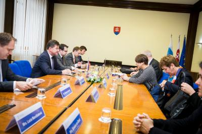 Miroslav Lajčák met with Minister for Foreign Trade and Development Cooperation of Netherlands Lilianne Ploumen.