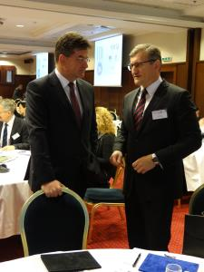 With the coorganizer of the conference, Head of European Commission Representation in Slovakia Dušan Chrenek.