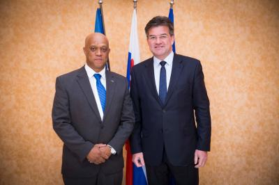 Luís Filipe Tavares Minister Of Foreign Affairs And Communities The Republic Cabo Verde Arrived For His First Ever Visit To Slovak