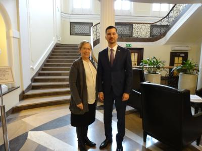 State Secretary Parízek speaks with the ODIHR Director about mutual cooperation and preparations for Slovakia's Presidency of the OSCE in 2019