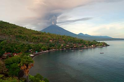 Eruption of Mt. Agung volcano in east Bali, Indonesia (Shutterstock)