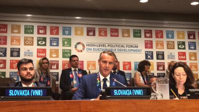 At the UN Slovakia presents its review of progress towards implementing Sustainable Development Goals