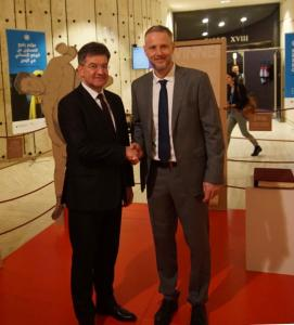 Exhibition about David Unreich. Minister with the Deputy Director of the Jewish Museum in Bratislava Michal Vanek