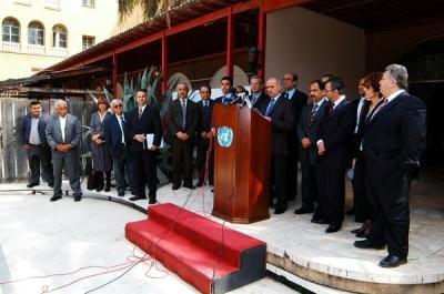 The Press Conference at the Ledra Palace Political party leaders agreed on series of bi-communal events (13th March 2007)