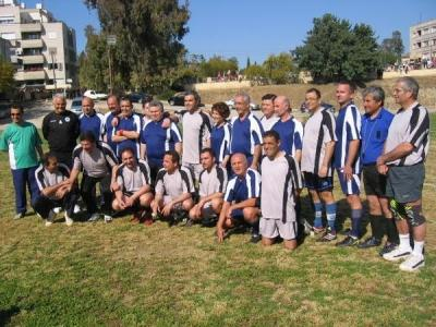 The bi-communal football match between the mixed teams of the political party leaders on Saturday, 14th of April 2007 and on 14th of July 2007
