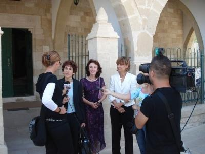 The bi-communal visit to the Hala Sultan Tekke Mosque in Larnaca on 3rd November 2007
