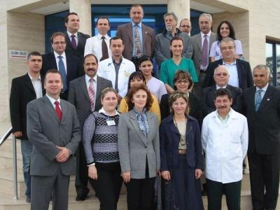 The bi-communal visit of ETIK hospital in North of Nicosia (6th December 2008)
