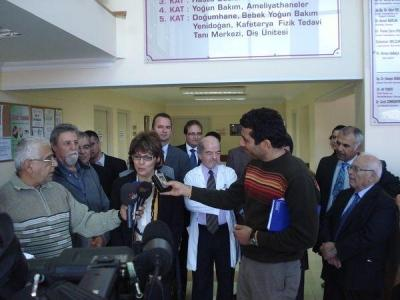 The bi-communal visit of LIVE hospital in North of Nicosia (6th December 2008)