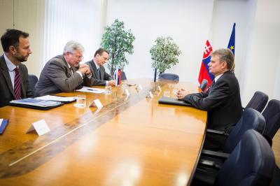 State Secretary I. Slobodník received the Ambassador of the Republic of Estonia in the Slovak Republic based in Vienna R. Oidekivi.