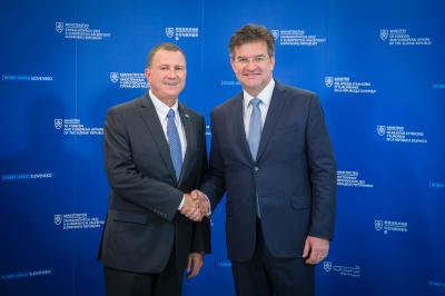 Minister Lajčák and Speaker of the Knesset discuss growing dynamics in mutual relations