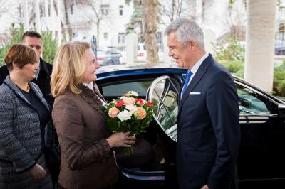 State Secretary Korčok receives the new head of Austrian diplomacy during her first trip abroad