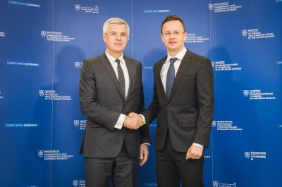 State Secretary Korčok receives Péter Szijjártó, Minister of Foreign Affairs and Trade of Hungary