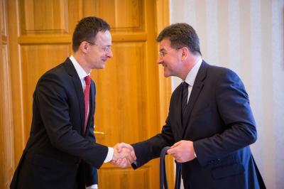 "Lajčák at meeting with Szijjártó: ""I wish to acknowledge the important role that Hungary plays in relation to the issue of water on the global level ."""