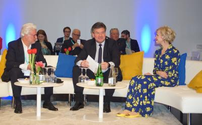 Minister Lajčák Talks with His Counterpart from Liechtenstein and Gives Address at Conference on SDGs