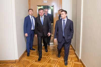 Lajčák Visits Ukraine as the OSCE Chairperson-in-Office